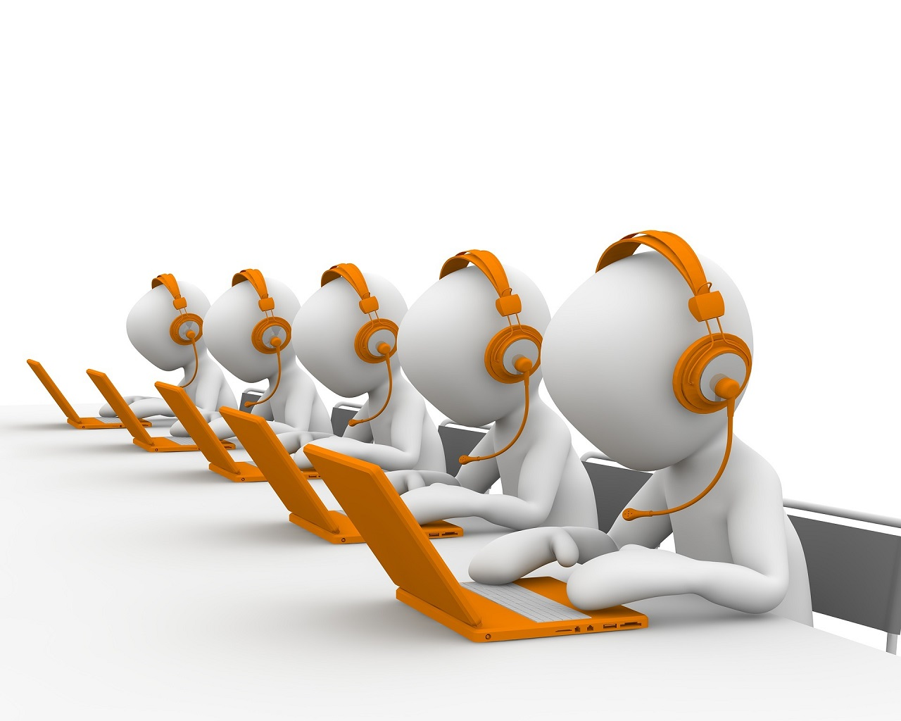Illustration of call center phone service Email Marketing Content