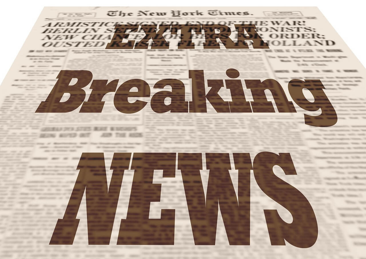 Newspaper breaking news Email Marketing Content