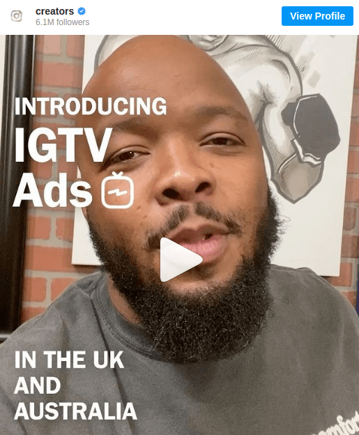 A content creator talking about IGTV ads - Make money on Instagram