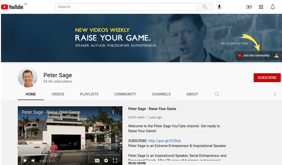 Example of a brand YouTube channel-Get More Views on YouTube