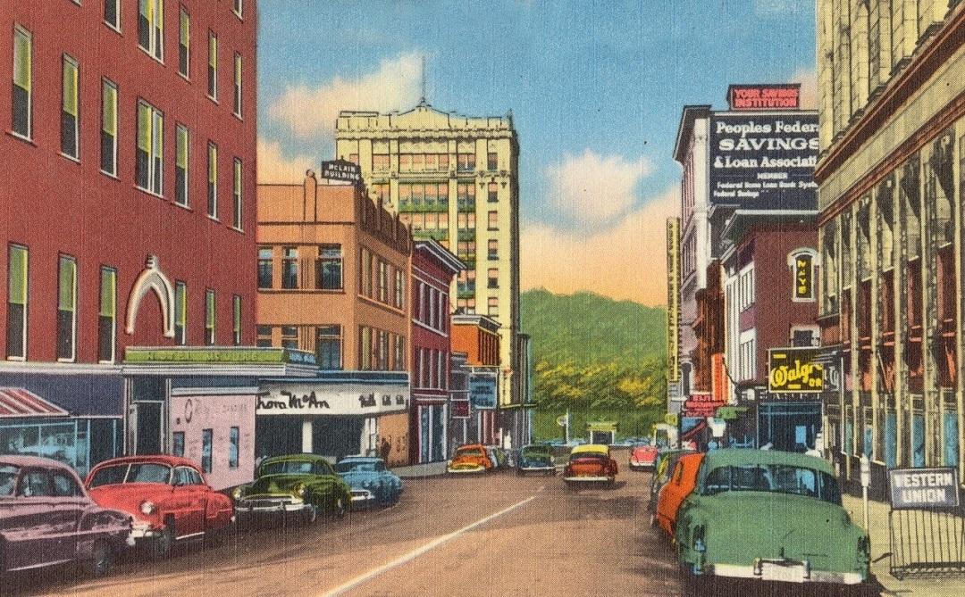 Illustration of 12th Street, looking west, Wheeling, W. Va - Illustration Tools