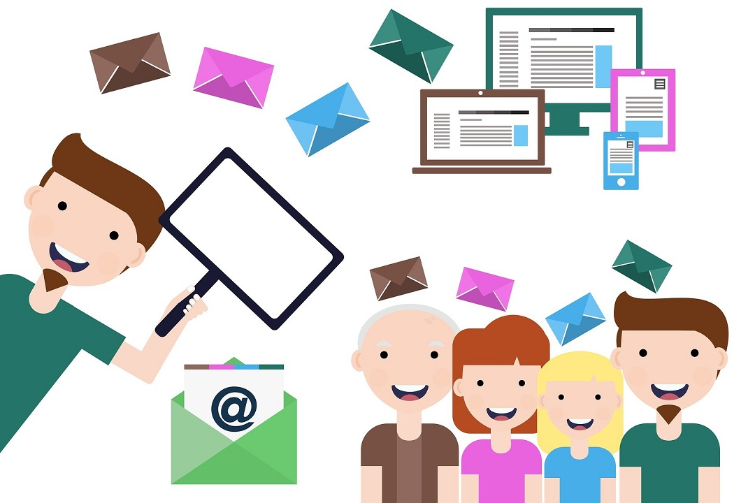 Emails everywhere, happy people